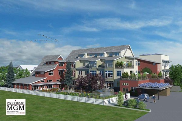 Architectural Rendering Prairie Spruce Commons Cohousing